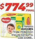 Oferta de Pañales Huggies por $774,99