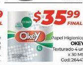Oferta de Papel higiénico Okey por $35,99