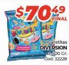 Oferta de Galletas Diversion por $70,49