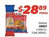 Oferta de Fideos Okey por $28,89