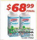 Oferta de Crema de leche La Serenísima por $68,99
