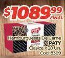 Oferta de Hamburguesas de vaca Paty por $1089,99