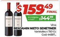 Oferta de Vino Benjamín Nieto por $159,49