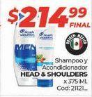 Oferta de Shampoo y acondicionador Head & Shoulders por $214,99