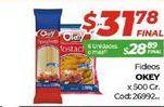 Oferta de Fideos Okey por $31,78