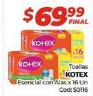 Oferta de Toallas femeninas Kotex por $69,99