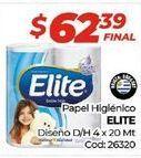 Oferta de Papel higiénico Elite por $62,39