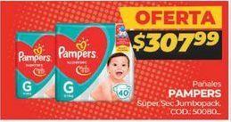 Oferta de Pañales Pampers por $307,99