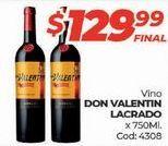 Oferta de Vino tinto Don Valentin por $129,99
