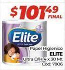 Oferta de Papel higiénico Elite por $101,49