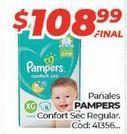 Oferta de Pañales Pampers por $108,99