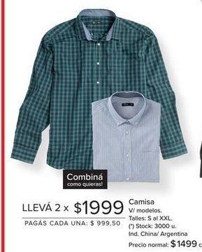 Oferta de Camisa hombre por $1999