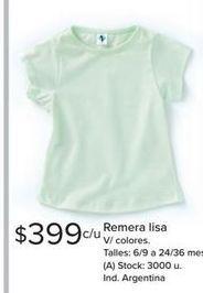 Oferta de Remera niña por $399