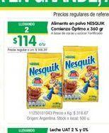 Oferta de Alimento en polvo Nesquik por $114