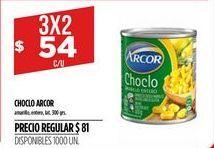 Oferta de Choclo Arcor por $54