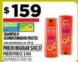 Oferta de Shampoo o acondicionador Fructis por $159