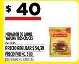 Oferta de Medallon de carne vacuna por $40