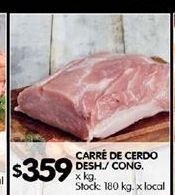 Oferta de Carré de cerdo por $359