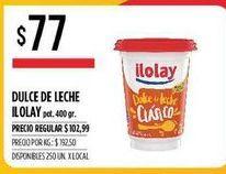 Oferta de Dulce de leche Ilolay por $77