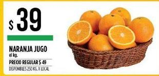 Oferta de Naranjas para jugo por $39