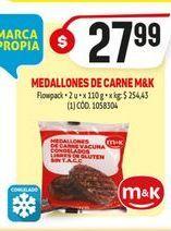 Oferta de Hamburguesas M&K por $27,99