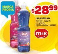 Oferta de Limpiador de pisos M&K por $28,99