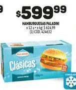 Oferta de Hamburguesas Paladini por $599,99
