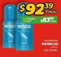 Oferta de Desodorante spray Patrichs por $92,39