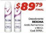 Oferta de Desodorante spray Rexona por $89,79