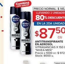 Oferta de Antitranspirante en aerosol Nivea men por $87,5