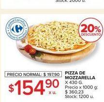 Oferta de Pizza de mozzarella  por $154,9