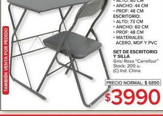 Oferta de Set de escritorio y silla  por $3990