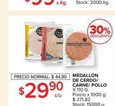 Oferta de Medallón de cerde/carne/pollo por $29,9