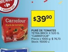 Oferta de Puré de tomate Carrefour por $39,9