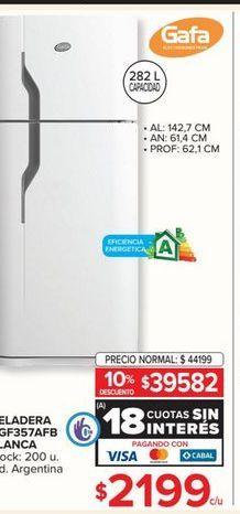 Oferta de Heladeras Gafa por $2199
