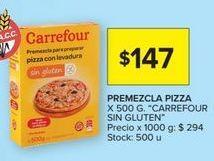 Oferta de Premezcla pizza Carrefour por $147