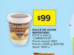 Oferta de Dulce de leche repostero Carrefour por $99