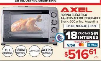 Oferta de Horno eléctrico Axel acero inoxidable por $516,61