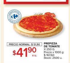 Oferta de Prepizza de tomate  por $41,9