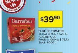 Oferta de Puré de tomates tetra brick Carrefour por $39,9