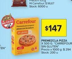Oferta de Premezcla pizza sin gluten Carrefour por $147