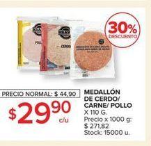 Oferta de Medallón de cerdo/carne/pollo  por $29,9