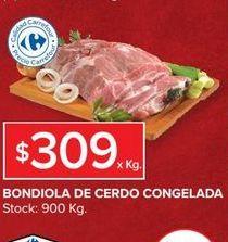 Oferta de Bondiola de cerdo congelada  por $309