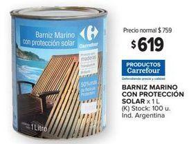 Oferta de Barniz marino con protección solar Carrefour por $619