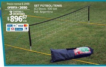 Oferta de Set fútbol/ tenis por $2690