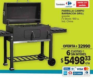 Oferta de Parrilla barbacoa compacta por $32990