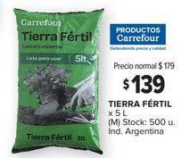 Oferta de Tierra para plantas Carrefour por $139