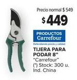 Oferta de Tijeras de jardinería Carrefour por $449
