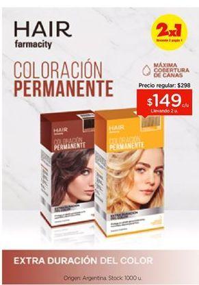 Oferta de Kit de coloracion HAIR FARMACITY por $149