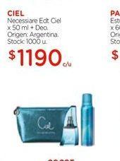 Oferta de CIEL Necessiare Edt x 50ml + Deo por $1190